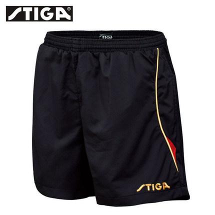 斯帝卡 G130213 黑红色乒乓短裤 男女通用款 透气舒适
