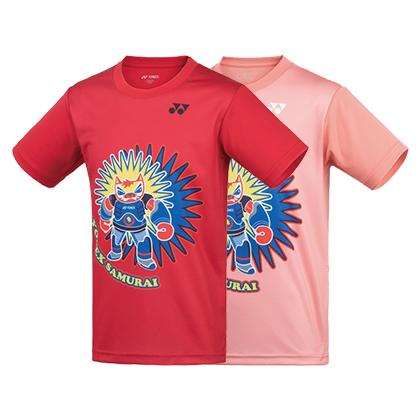 尤尼克斯YONEX短袖T恤 儿童款羽毛球服315039BCR童装运动T恤