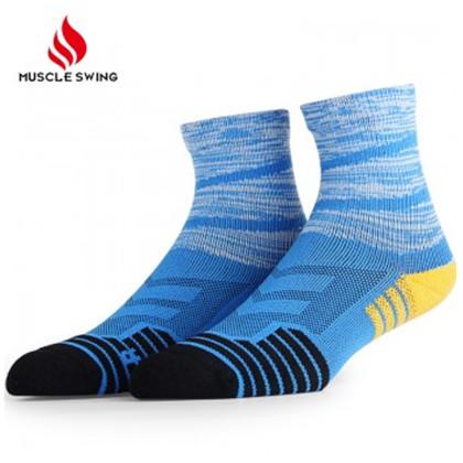 肌动4双装休闲运动潮袜 户外徒步登山袜 跑步袜子