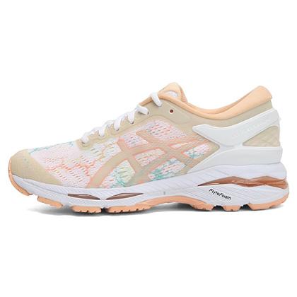 亚瑟士ASICS跑步鞋 K24女夜光版跑鞋GEL-KAYANO 24 LITE-SHOW T8A9N-0101白色/彩色