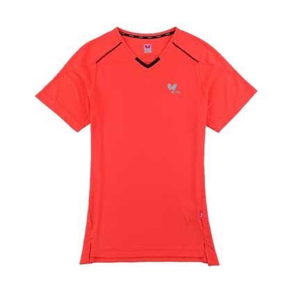 蝴蝶Butterfly BWH-825-1-22 乒乓短袖T恤 红色 女款