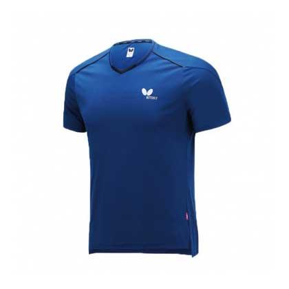 蝴蝶Butterfly BWH-825-05 乒乓短袖T恤 深蓝色 男女通用