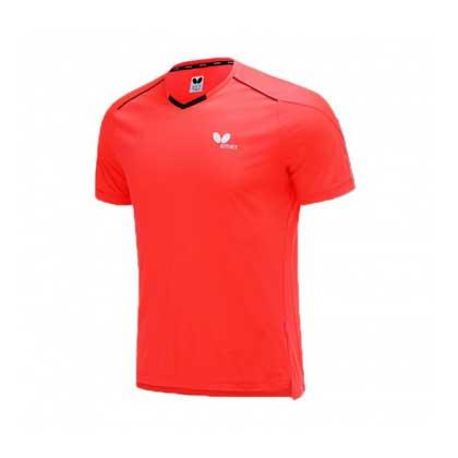 蝴蝶Butterfly BWH-825-22 乒乓短袖T恤 红色 男女通用