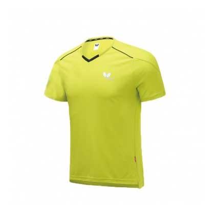 蝴蝶Butterfly BWH-825-21 乒乓短袖T恤 黄色 男女通用