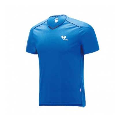 蝴蝶Butterfly BWH-825-03 乒乓短袖T恤 蓝色 男女通用
