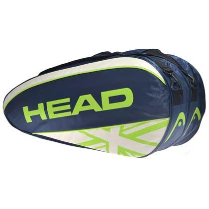 海德HEAD 2834001 6支装网球包 藏青 大容量,带隔热层,可双肩背