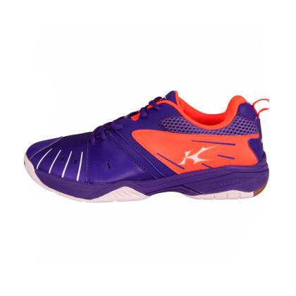 凯胜KASON 羽毛球鞋男款 FYTM013-1 中青队赞助品牌 电光紫/荧光耀橙 透气网布带来干爽体验(高性价比之选)