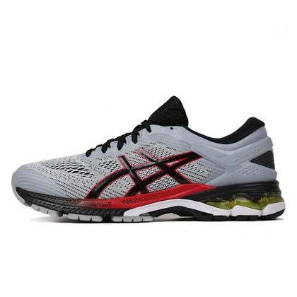 亚瑟士ASICS跑步鞋 KAYANO 26(K26)男跑步鞋 1011A541-020灰色 新一代鞋皇跑鞋