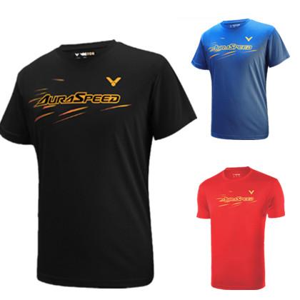 胜利VICTOR羽毛球服透气速干T恤 T-90040 男款圆领短袖 神速AURASPEED 短袖T恤