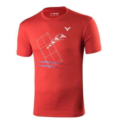 胜利VICTOR羽毛球服 T-90016 男款圆领短袖 运动休闲T恤透气清爽