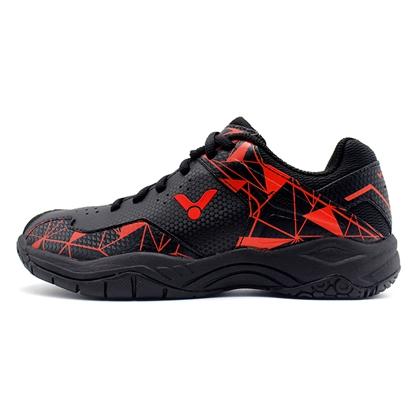 胜利Victor羽毛球鞋 SH-A362-CD中性 羽毛球鞋 黑红 透气高弹防滑耐磨全面类