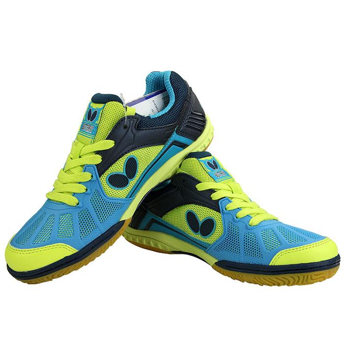 蝴蝶L2专业乒乓球鞋L-2 湖蓝/黄色 男女通用款 BUTTERFLY LEZOLINE-2-1411 乒乓球鞋