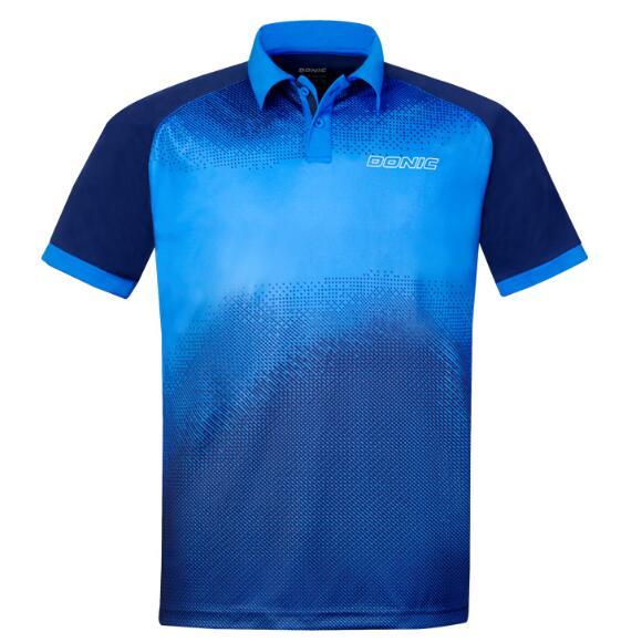 DONIC多尼克 83691-177 乒乓球服翻领速干短袖乒乓球服 男女通用 蓝色