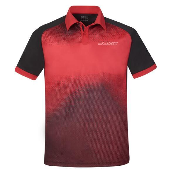 DONIC多尼克 83691-218 乒乓球服翻领速干短袖乒乓球服 男女通用 红色
