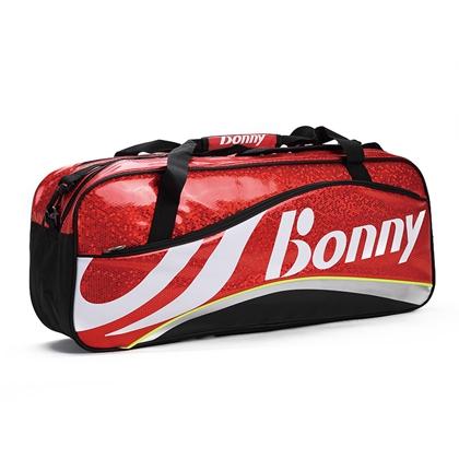 BONNY波力1TB16003蜂巢系列六支装网羽球包 (难以抵挡的红色热情)