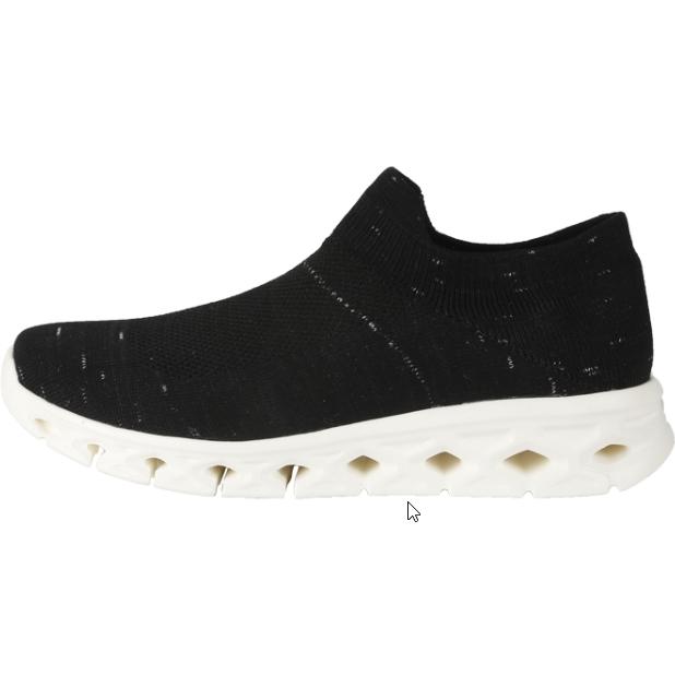 【优个精选】一款真正的袜套鞋,穿过就完全心动了!经典黑 男女同款 一体飞织袜套式运动鞋 休闲鞋慢跑鞋,蝉翼系列,超轻,超透气,超舒软
