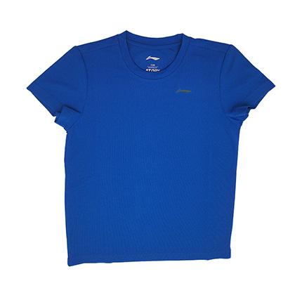 李宁儿童羽毛球服 儿童短袖T恤 AAYP138 羽毛球儿童服比赛上衣 男女同款