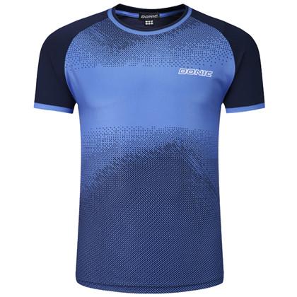 多尼克83901-177 蓝色 速干男女款圆领乒乓球比赛服T恤短袖