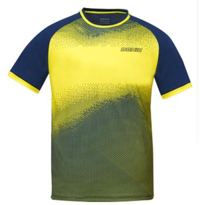 多尼克83901-022 黄色 速干男女款圆领乒乓球比赛服T恤短袖