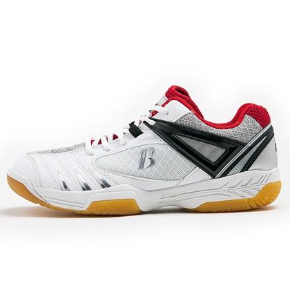 [断码清仓39码] 波力BONNY 羽毛球鞋男女均可穿 无限189 白/红 防滑耐磨、全身透气 快速启动型