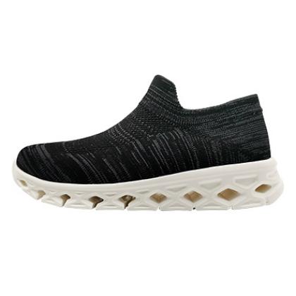 【优个精选】一款真正的袜套鞋,穿过就完全心动了!黑灰 男女同款 一体飞织袜套式运动鞋 休闲鞋慢跑鞋,蝉翼系列,超轻、透气,超舒软