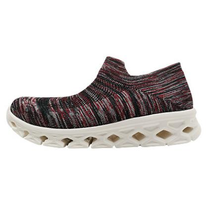 【优个精选】一款真正的袜套鞋,穿过就完全心动了!深咖红男女同款 一体飞织袜套式运动鞋 休闲鞋慢跑鞋,蝉翼系列,超轻、透气,超舒软