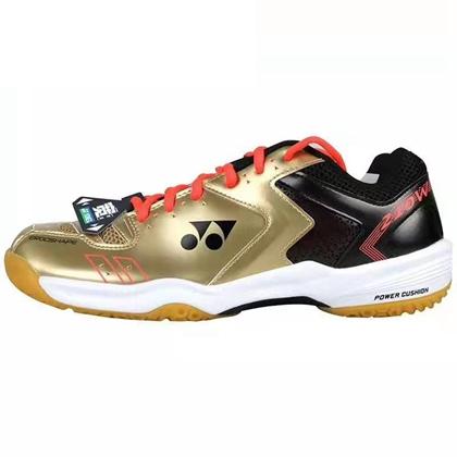尤尼克斯YONEX羽毛球鞋 SHB210WCR 金色 宽楦型 超轻透气防滑