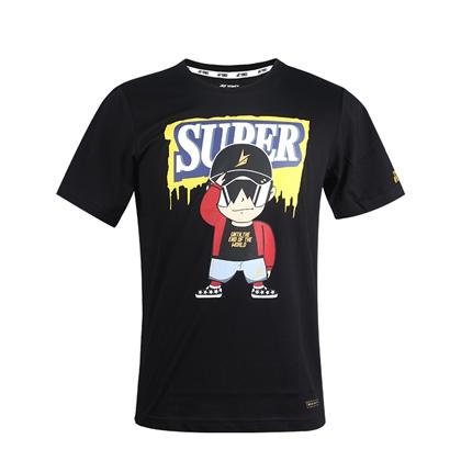尤尼克斯YONEX短袖T恤 10020LD(超级丹卡通服)黑色 限量发售