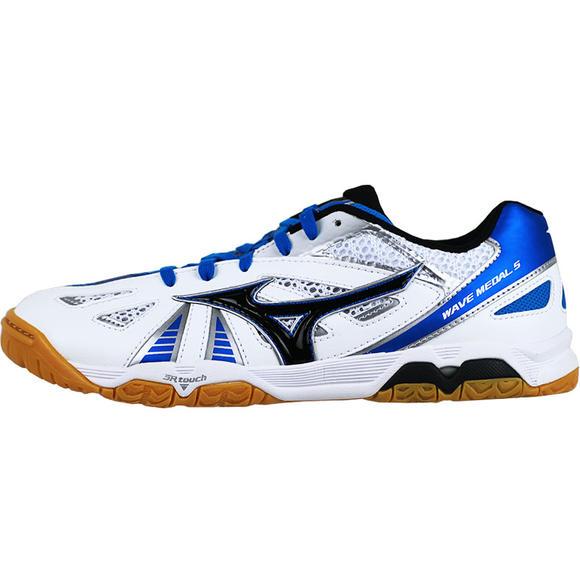 美津浓Mizuno 81GA151527 乒乓球鞋专业乒乓球鞋比赛训练鞋 白浅蓝
