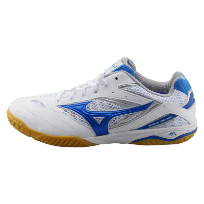 美津浓Mizuno 81GA170527 专业乒乓球鞋 白蓝