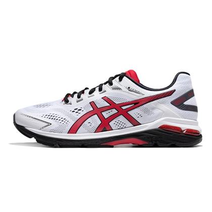Asics亚瑟士跑步鞋 GT-2000 7慢跑鞋 男1011A158-100 白色/红色