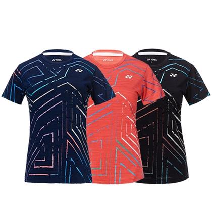 尤尼克斯YONEX 短袖T恤 210659BCR 黑色/藏青/西瓜红 女款羽毛球服 三色可选