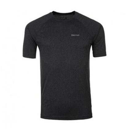 marmot/土拨鼠运动短袖超轻透气男士排汗速干T恤S53550 石南灰