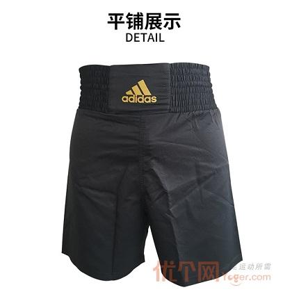 阿迪达斯Adidas MMA/BOXING专业拳击搏击运动短裤ADISMB02_ST 黑/金