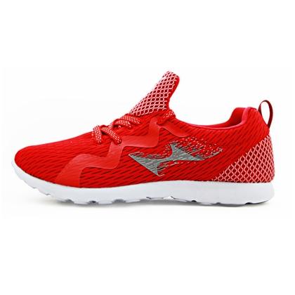 海尔斯HEALTH跑步鞋 7666S 红色(一体织鞋舌,鞋底耐磨回弹设计)