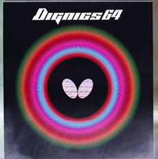 Butterfly蝴蝶D64 反胶套胶06060(Butterfly DIGNICS 64) 速度型 高速度中后台对拉扣杀进攻性打法神器,T64升级款