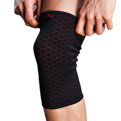 李宁 针织护膝 LQAH803-1 加压弹簧支撑护具开放式 高弹力新型针织护膝
