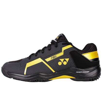 尤尼克斯YONEX羽毛球鞋 SHB-610CR 黑金中性款羽毛球鞋(新一代高颜值,动力垫战靴)