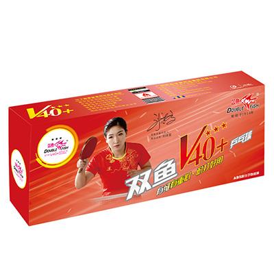 双鱼乒乓球三星v40    新材料有缝球 10只装 双鱼展翅乒乓球