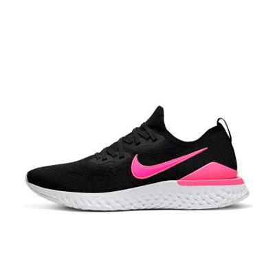 Nike耐克NIKE EPIC REACT FLYKNIT2男子跑步鞋夏季透气BQ8928-013 黑/黑/爆炸粉