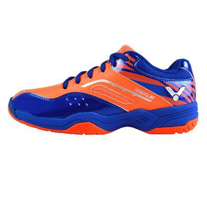胜利VICTOR 羽毛球鞋 A960JR-OF 儿童鞋 全面型 番茄红/标准蓝(舒适,稳定)