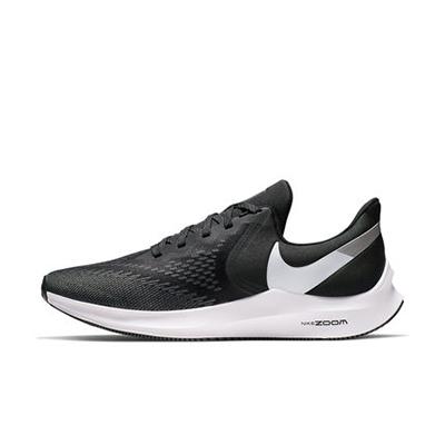 Nike耐克NIKE ZOOM WINFLO 6 男子跑步鞋夏季透气长跑 AQ7497-001 黑/白/暗灰