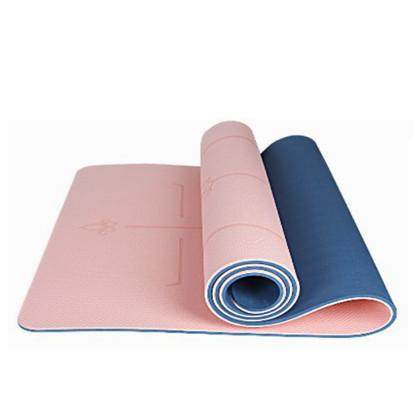 三梵瑜伽垫 加宽80cm加厚经济垫tpe 双面防滑耐用 环保无味 橡皮粉 深蓝