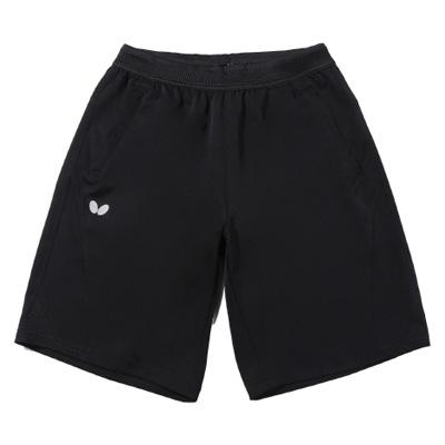 蝴蝶Butterfly BWS-329-02 乒乓球短裤运动中裤 速干轻量 黑色款