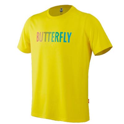 蝴蝶Butterfly BWH-827-11 乒乓球短袖運動短袖 透氣舒適 黃色