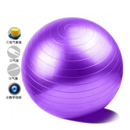 奔酷PVC瑜伽球健身球 55cm加厚防爆 买一送四 配打气筒