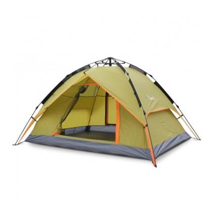 乐飞思3-4人全自动帐篷 家庭户外自驾休闲帐篷露营防雨帐篷
