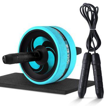 【優個精選】索維爾 SW-0100健腹輪靜音腹肌輪健身器材運動巨輪收腹健腹器鍛煉腹肌滾輪減肚子 帶跳繩款
