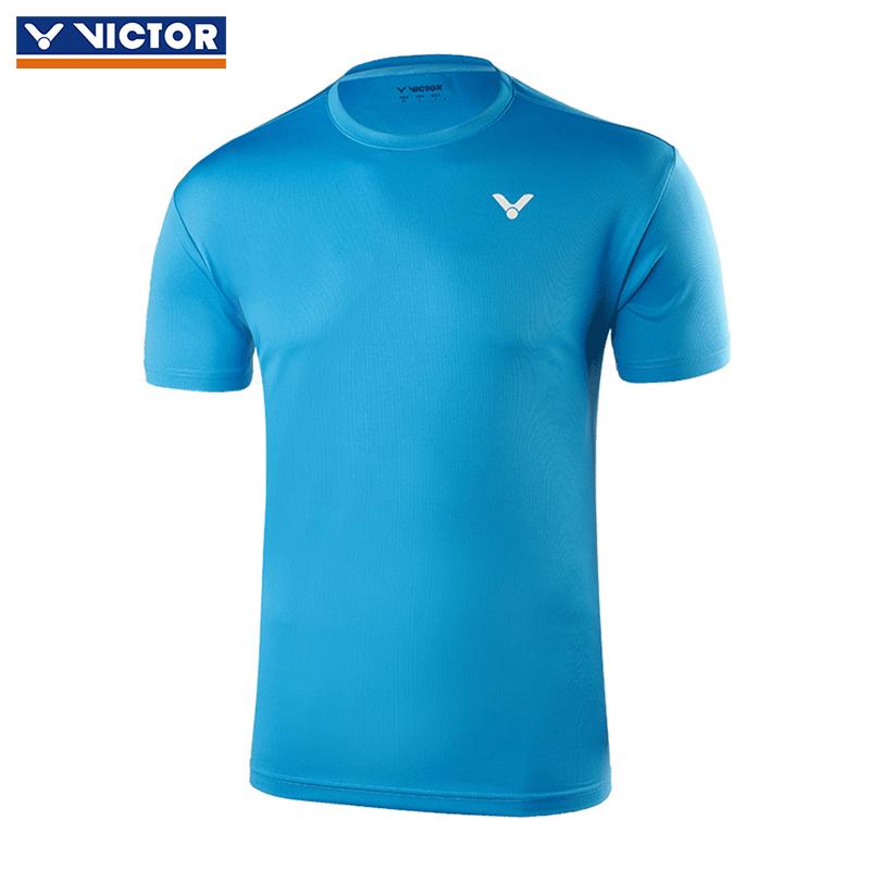 胜利victor 羽毛球服男女款运动T恤威克多羽毛球短袖 90022M 夏威夷蓝