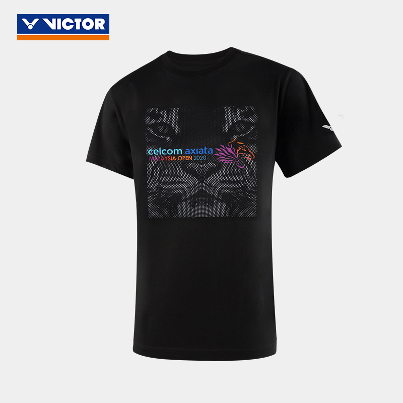 胜利victor 羽毛球服 训练短袖T恤 00022C 黑色